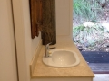 Custom Travertine Bathroom Top