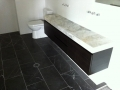 Pietra Grey Marble tiles with Storm Marble Vanity Top