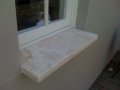 Travertine Window Servery