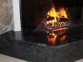 New marble fireplace