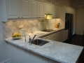 After marble bench top installed
