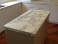 Caesarstone Bench Tops with Calacatta Marble Island & Splash back