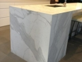 Calacatta Marble mitred panels