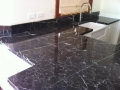 Charcoal Lighting marble benchtops