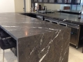 Charcoal Lightning Marble Bench Tops With 50mm mitre edges
