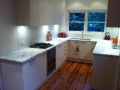 Imperial white 30mm benchtops honed exclusive to aysons