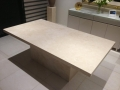 Ivory travertine table