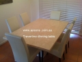 Travertine dinning table