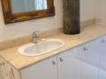 Custom Travertine Bathroom Top