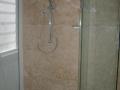 travertine shower panel