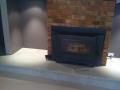 Trevertine fireplace surround