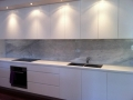 Essa Stone Bench tops with Imperial White Marble Splash Backs