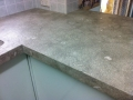 Fossil Green limestone bench tops 80mm mitre edge