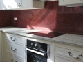 Valley White Granite top with Ruby Red Marble Splashback