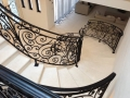 Fossil beige custom staircase top view
