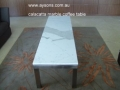 Calacatta Marble coffee table with stainess steel base