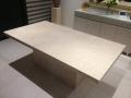 Ivory travertine table